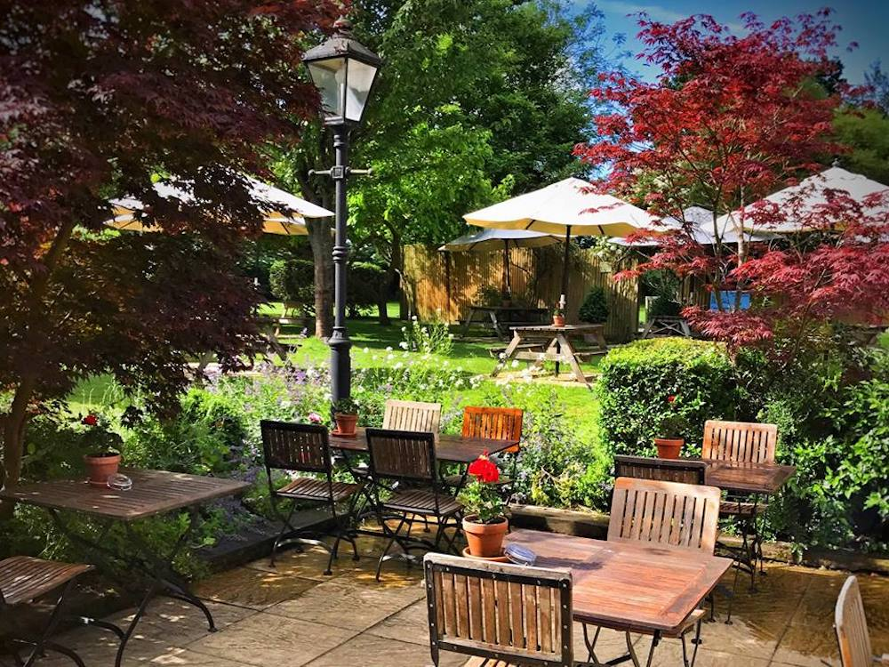 The Royal Oak pub garden