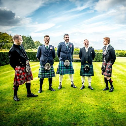 Scottish wedding grooms