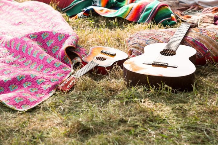guitar grass summer