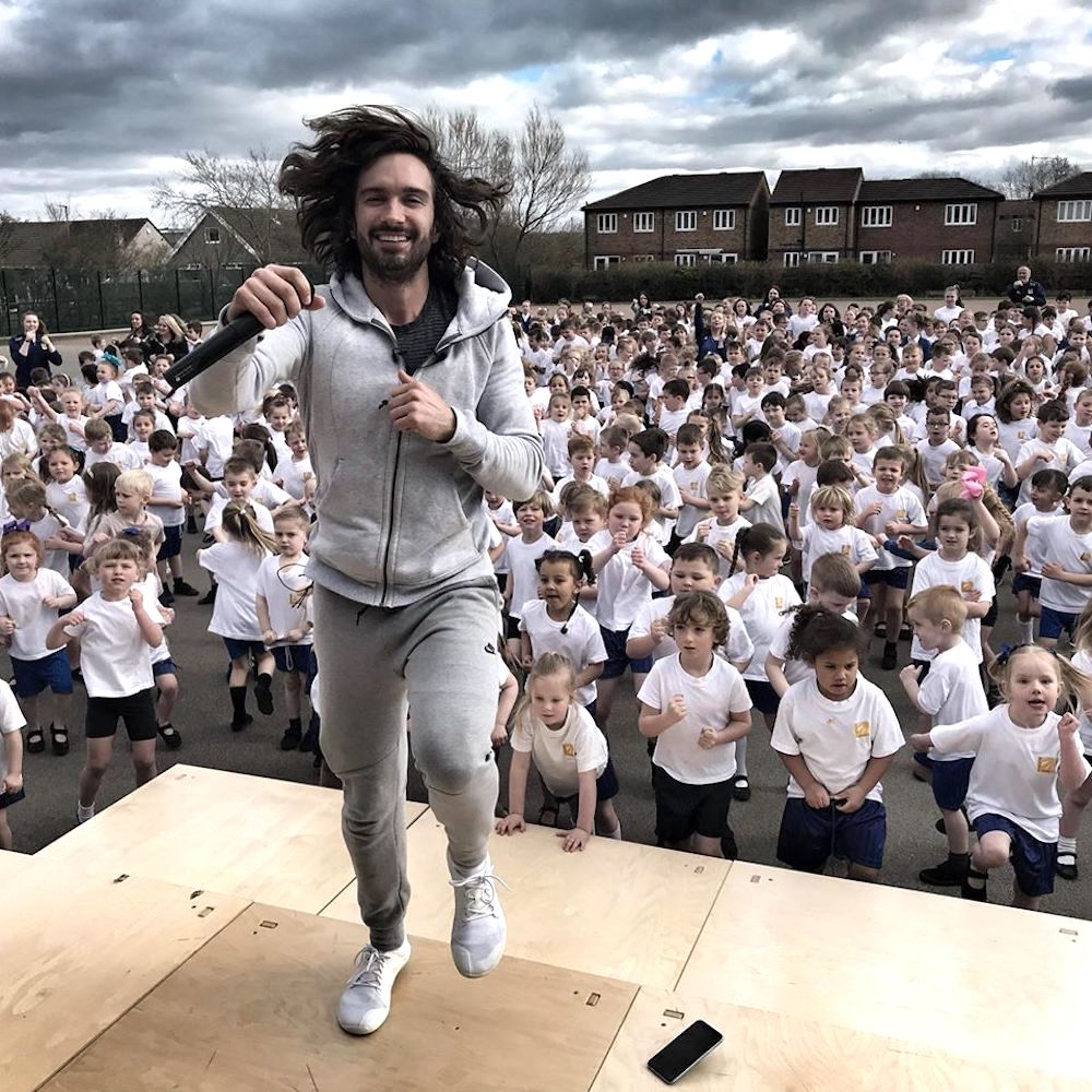 Joe Wicks teaching P.E. class