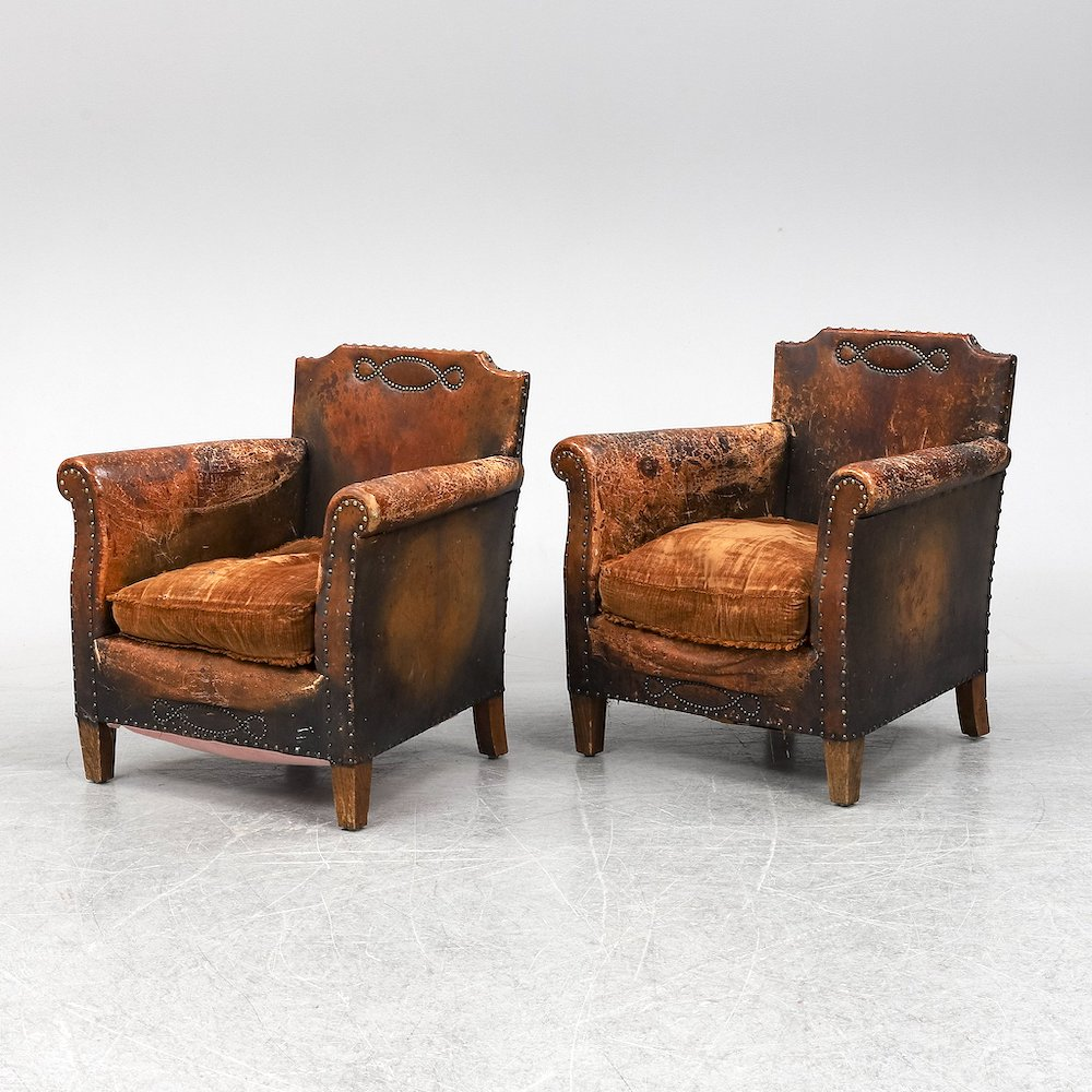 Leather armchairs Montpelier Interiors