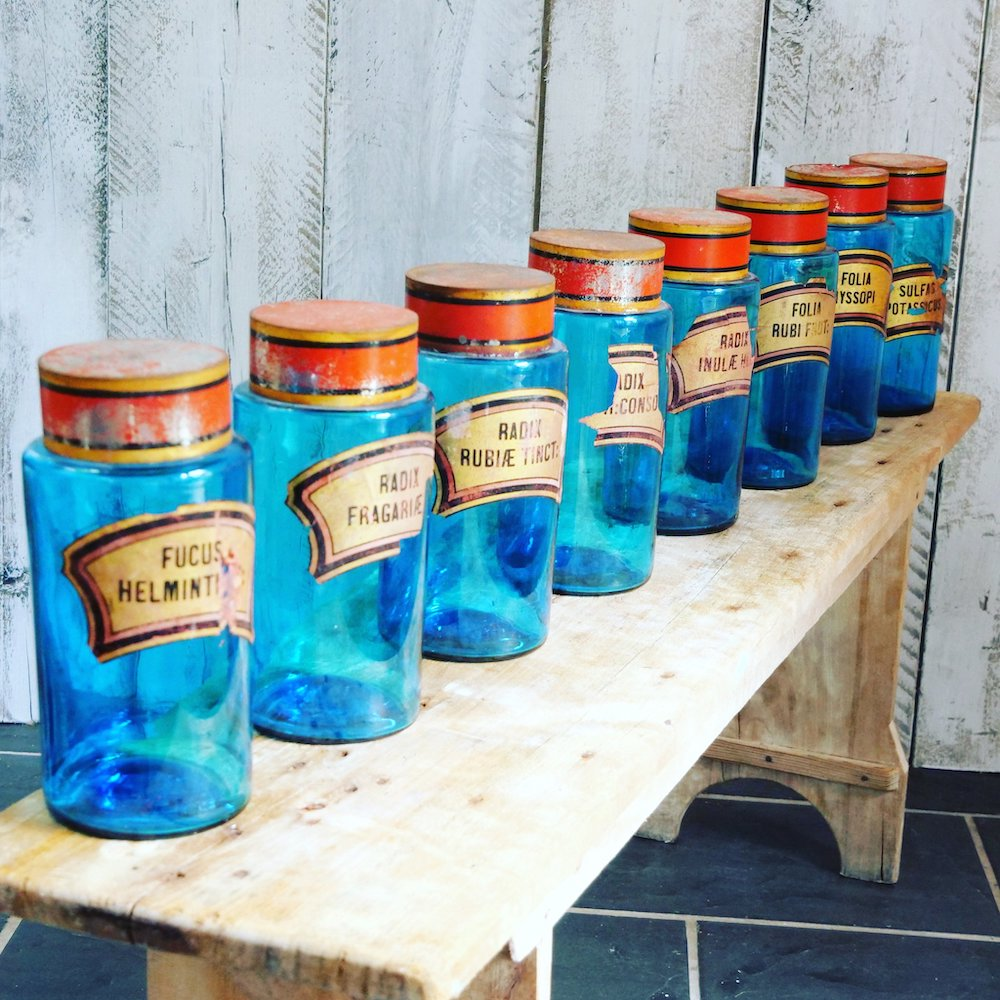 Montpelier Interiors glass bottles