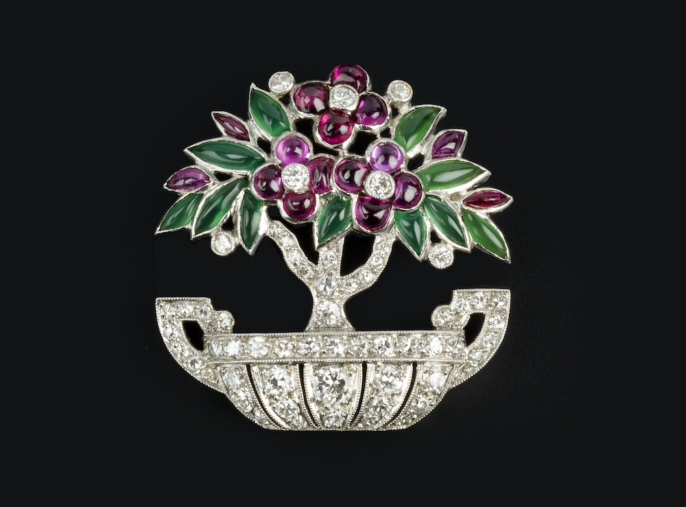 Cartier Diamond and Gem Brooch