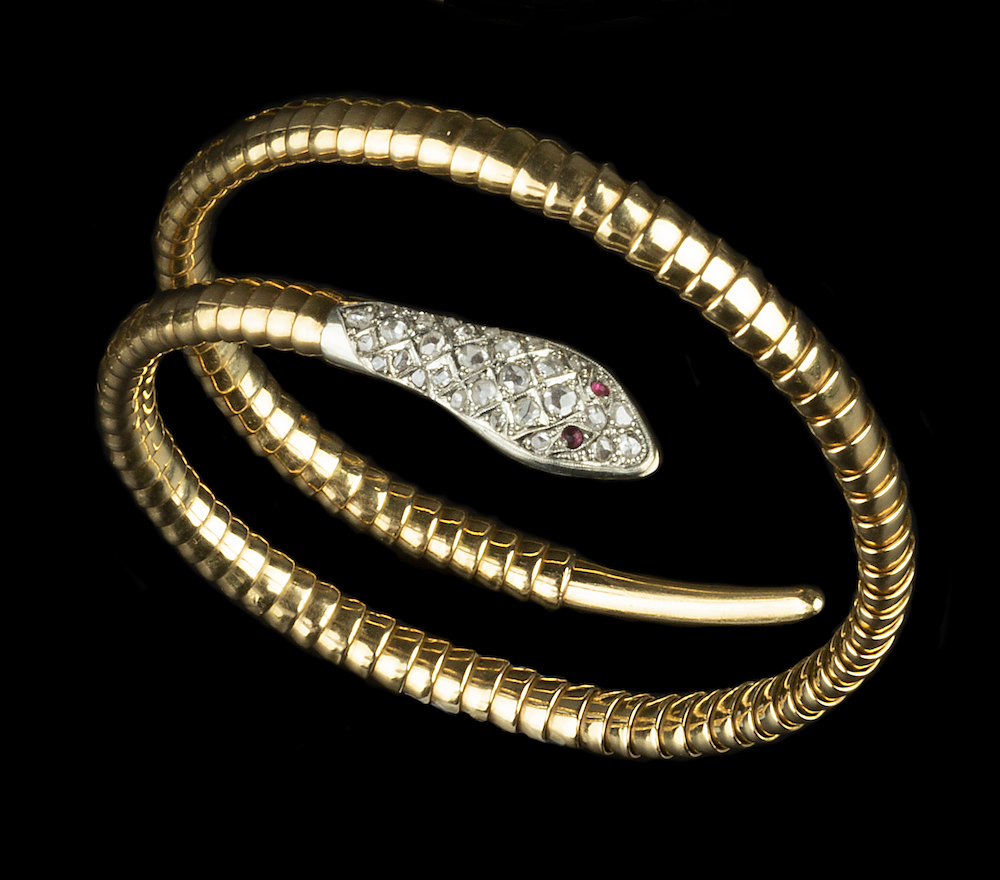 Diamond Set Serpent Bracelet