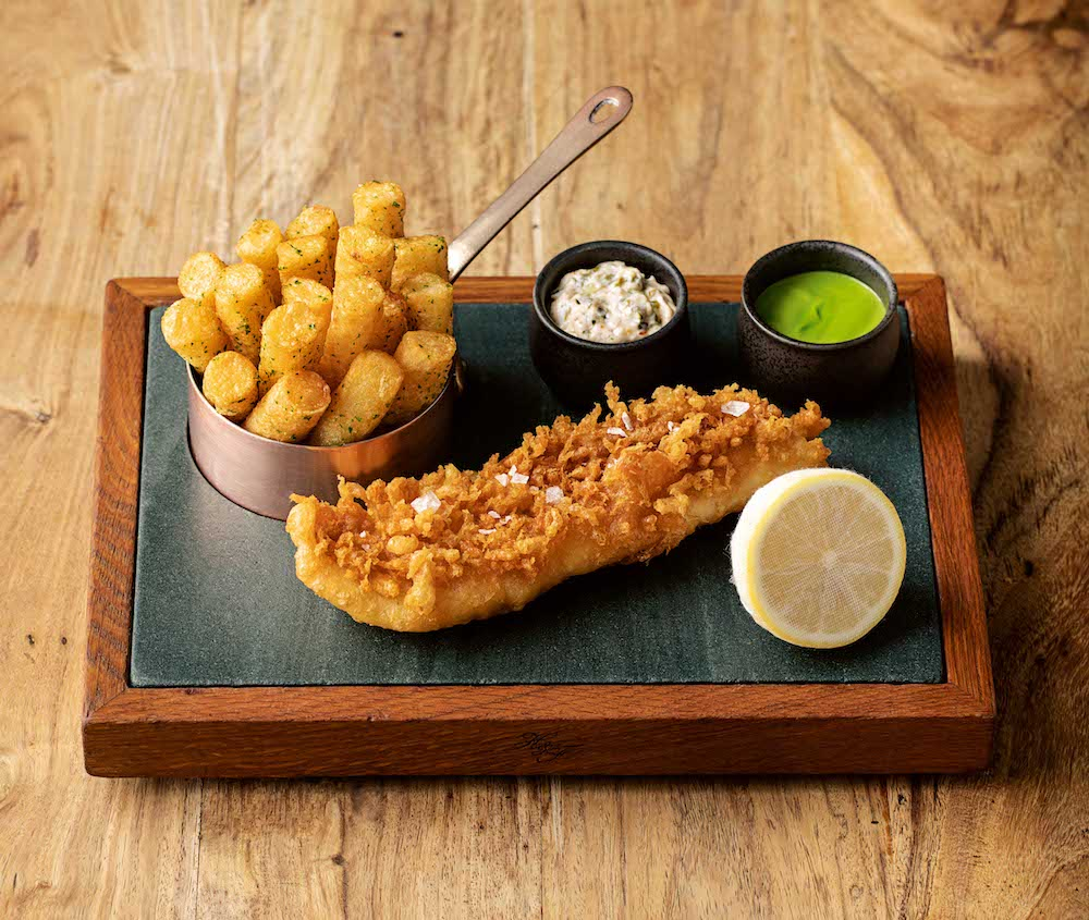 Fish and chips from The Hand and Flowers